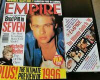 EMPIRE MAGAZINE 80 Feb 96 BRAD PITT Seven Showgirls Cindy Crawford Pfieffer VHS