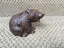 """Vintage Black Forest style Canadian Maple Roaring Grizzly Bear Figurine 3,5""""/9cm"""