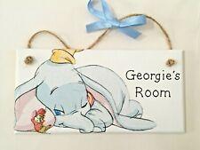 Personalised Disney Dumbo Plaque Door Bedroom Sign Girl Boy Baby Newborn Nursery