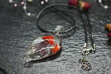 Glass Art Talisman Necklace Wicca Pagan Jellyfish Red