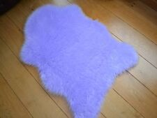 New Bright Lilac Rugs Fluffy Bedroom Faux Fake Hairy Furry Fur Sheepskin Mats