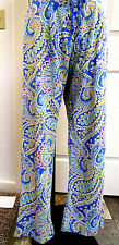 Vera Bradley Pajama Lounge Pants, Capri Blue Pattern,  Blue Paisley, Size Medium