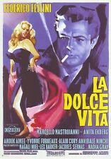 LA DOLCE VITA (1960) LOCANDINA POSTER 24 X 17 NUOVA