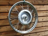 Bsa b25 tr25w 441 etc, TLS front wheel 1968 -70+ Stainless rim and spoke set 18""