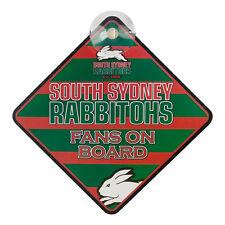 South Sydney Rabbitohs NRL Car Sign **NRL Official Merchandise**