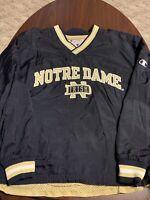 Vintage Champion Notre Dame Reversible Windbreaker Pullover Jacket Mens XL