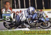 uralte AK, Autograph Motorradrennfahrer Carlos Cardus