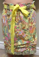 Skirt Handmade Hippie Paisley Knee Skirt Soft Fun Bright Design Cute Ribbon Belt