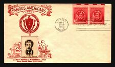 US SC# 885 FDC / Red Cachet / Pair / Erased Add - Z20614
