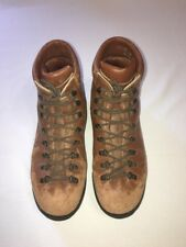 Scarpa Italian Brown Hiking Leather Boots, Men Size 10 1/2, Euro Size 44
