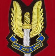 AUSTRALIA ARMY SAS SPECIAL AIR SERVICE REGIMENT BULLION PATCH BADGE SASR