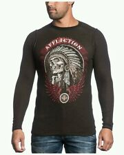 AFFLICTION THUNDERFOOT A12868  2XL XXL REVERSIBLE BLACK/BROWN THERMAL MSRP $68
