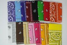 SALE ! Lot of 12 / 1 Dozen Bandana Paisley Printed 100%Cotton Fast FREE shipping