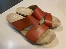 """DANSKO Women's """"Lacee"""" Coral Calf Leather Slide Sandals Size 40"""