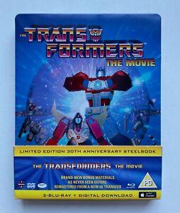 Transformers - The Movie - Ltd Ed 30th Anni Steelbook Blu-ray - Cert PG 2 Discs