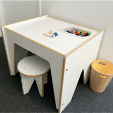 NEW KIDS ACTIVITY SENSORY CRAFT LEGO TABLE + STOOL - QUALITY AUSTRALIAN MADE