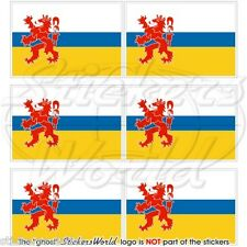 PROVINCIA di Limburg Bandiera Olanda Olandese Mobile Cellulare Mini Adesivo, Decalcomania x6