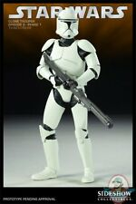 "Star Wars Militaries Ep II Phase 1 Clone Trooper 12"" Figure Sideshow Used"