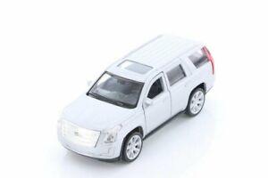 Welly 2017 Cadillac Escalade SUV 1/39 Scale Diecast Model Toy SILVER 4.5 inch