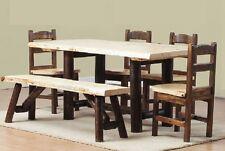 Log Cedar U0026 Pine Dining Set Dinette Table Rustic Bed Harvest Furniture