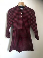 And & Other Stories Black Red Check Dress Warm Autimn Winte34 UK 8