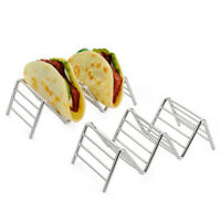 Taco Holder Stainless Steel Taco Stand Mexican Food Rack Shells 1-4 Slots JM TDC