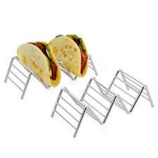 Taco Halter Edelstahl Taco Ständer Mexican Food Rack Schalen 1-4 SlotsAB