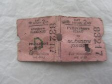 1960/70s British Rail Glasgow Central to Pollokshaws East 2nd Day Return Ticket