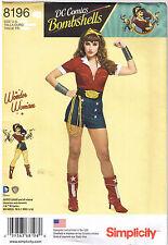 Wonder Woman DC Comics Bombshell Sexy Costume Sewing Pattern Plus 14 16 18 20 22