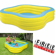Kid Swimming Pool Intex Square Family Swim Center Inflatable Water Beach Fun