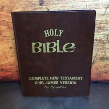 Holy Bible Complete New Testament King James Version on Cassette Tapes 1976