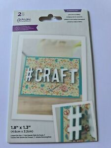 Crafter's Companion Expressions Hash Tag Left Fold Symbol  Lightly Used