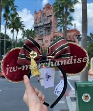 New Disney Parks Hollywood Tower Hotel Terror Minnie Ears Headband By Loungefly
