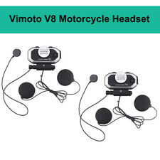 2X Vimoto V8 Motorcycle Helmet Headset Stereo Earphone Interphone For Cell Phone