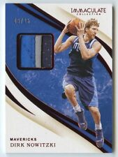 Dirk Nowitzki 2019 20 immaculate collection Mavericks 3 color patch 9/25