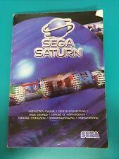 SEGA SATURN : Manuel console mode d'emploi - instruction manual