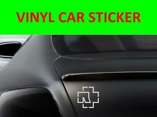 RAMMSTEIN CROSS SILVER STICKER CAR VINYL VISIT OUR STORE WITH MANY MORE MODELS
