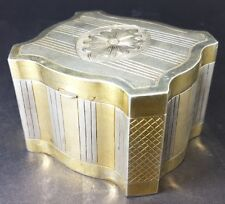 Coffret, 800 Argent, Placage à L'or , vers 1880 - 1900 AL521