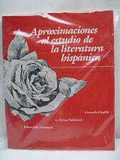 Aproximaciones Al Estudio De LA Literatura Hispani