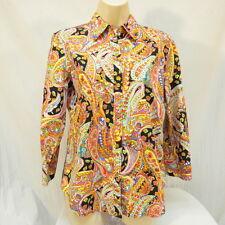 Chaps Paisley Colorful Shirt Size M