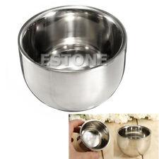 7.2cm Stainless Steel Metal Men's Shaving Mug Bowl Cup For Shave Brush New