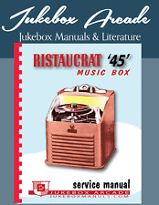 New! Ristaucrat '45' Music Box Complete Service Manual & Troubleshooting Charts