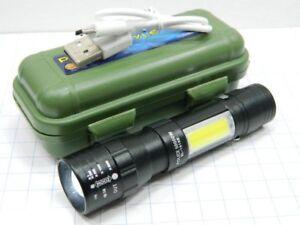 MINI TORCIA TATTICA MILITARE DOPPIO LED CREE T6 ZOOM RICARICABILE TRAMITE USB