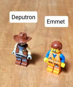 USED THE LEGO MOVIE 70800  DEPUTRON & EMMET MINIFIGURES SET OF 2 MINT CONDITION