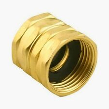 Green Thumb 7FHS7FGT Brass Double Female Swivel Hose to Hose Connector 3/4""