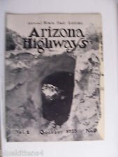 1925 OCTOBER ARIZONA HIGHWAYS MAGAZINE
