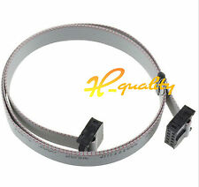 10pcs 70CM 10 Pin USB ASP ISP JTAG AVR wire IDC Flat Ribbon DATA Cable 2.54mm