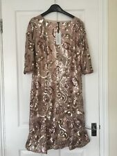 NEW women's dress, brand NIGHTINGALES, size 12, colour ROSE GOLD.