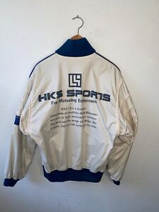 HKS Sports Bomber Jacket Rare 90s Nismo Greddy Windbreaker Supra GTR S13 RB26