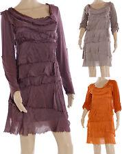 Stretchkleider aus Baumwollmischung ohne Muster für Clubwear-Anlässe